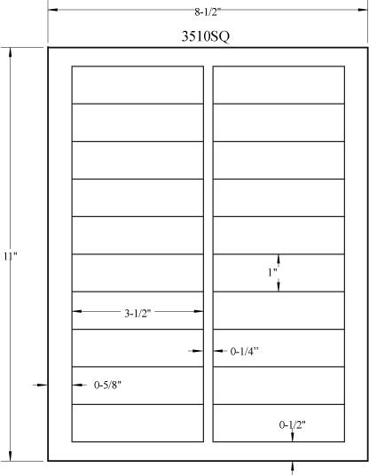 3 5 x 1 rectangle uncoated white labels laser inkjet labels