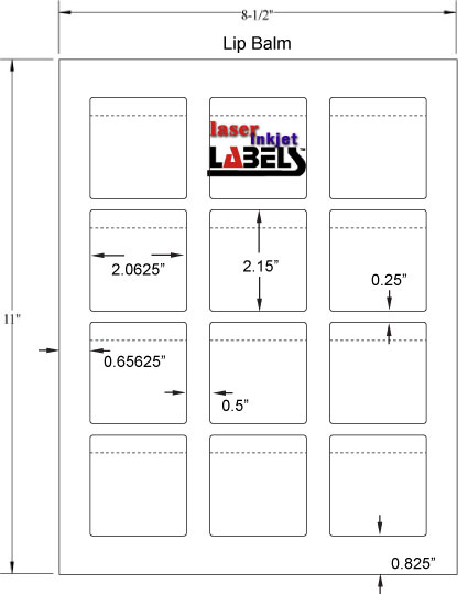 label dimensions