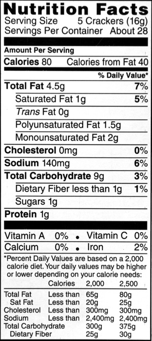 Nutrition Labels For Products Blank Laser Amp Inkjet Sheets