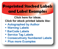 Get Ideas or Order Stock Labels