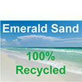 100% Recycled Emerald Sand Labels