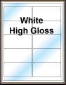 White High Gloss Labels