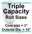 Triple Capacity Rolls
