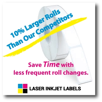 "4"" x 2.5"" OVAL INKJET ROLL LABELS Full Size Image #3"
