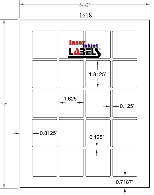 """1.625"""" x 1.8125"""" EMERALD SAND LABELS Full Size Image #2"""