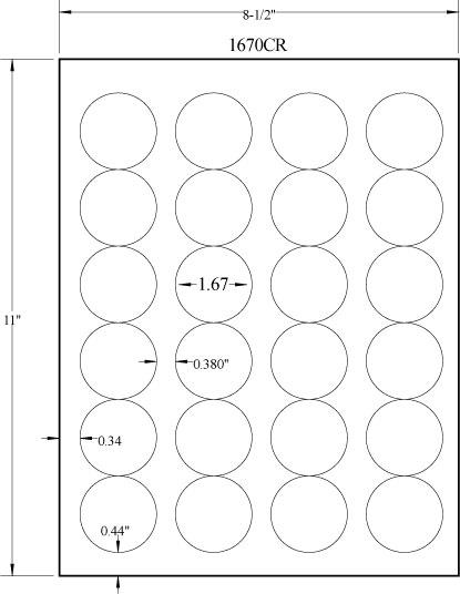 "1.67"" DIAMETER EMERALD SAND LABELS Full Size Image #2"