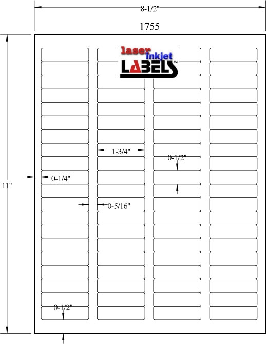"""1.75"""" x 0.5"""" EMERALD SAND LABELS Full Size Image #2"""