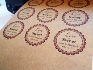 "2.5"" CIRCLE BROWN KRAFT LABELS Full Size Image #2"