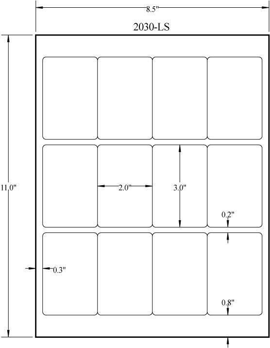 "2"" x 3"" RECTANGLE REMOVABLE WHITE LABELS Full Size Image #3"