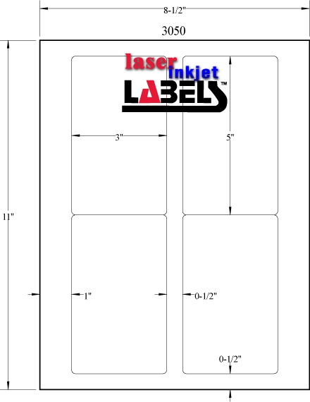 "3"" X 5"" RECTANGLE FLUORESCENT LABELS Full Size Image #3"
