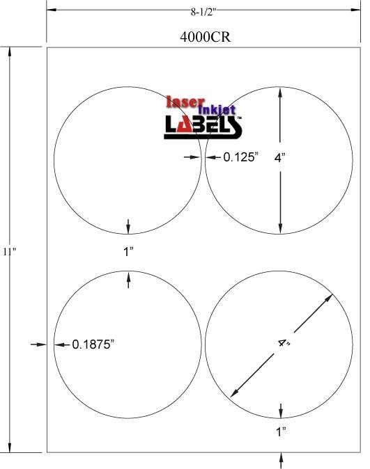 "4"" DIAMETER EMERALD SAND LABELS Full Size Image #2"