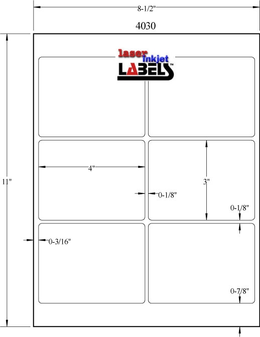 "4"" x 3"" White PolyGloss for Inkjet or Laser Printers Full Size Image #3"
