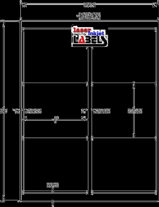 """4"""" x 3.33"""" WHITE SEMI-GLOSS for INKJET Full Size Image #3"""
