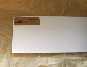 "2.625"" x 1.25"" RECTANGLE BROWN KRAFT LABELS Full Size Image #2"