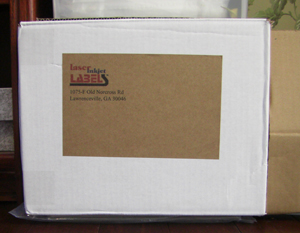 "8.5""  x 3.5"" RECTANGLE BROWN KRAFT LABELS Full Size Image #2"