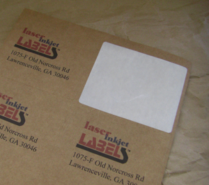 "1.5"" x 3"" RECTANGLE BROWN KRAFT LABELS Full Size Image #2"