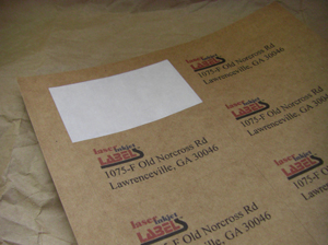 "1.625"" x 1.8125"" RECTANGLE BROWN KRAFT LABELS Full Size Image #2"