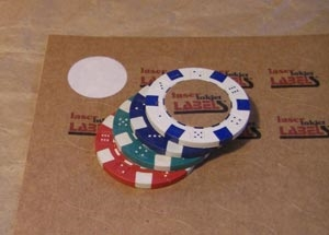 """1"""" CIRCLE GLOSSY WHITE LABELS Full Size Image #4"""