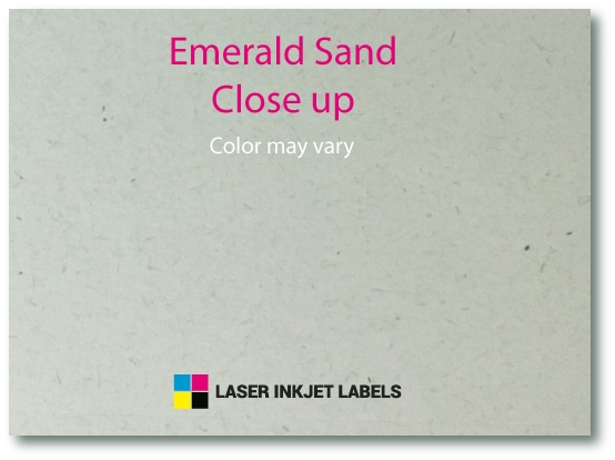 "4"" x 2"" SQUARED OVAL EMERALD SAND LABELS Full Size Image #3"