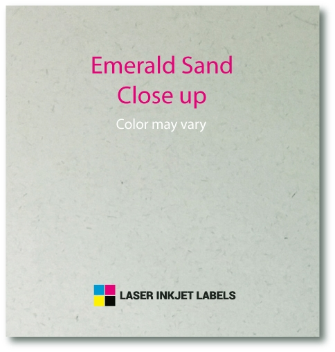 "4"" x 2"" SQUARED OVAL EMERALD SAND LABELS Full Size Image #4"