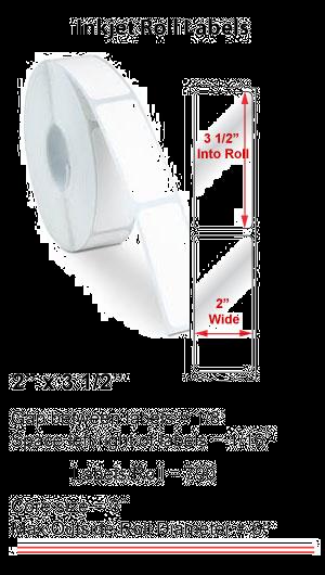 "2"" x 3.5""  INKJET PRIMERA LABELS Full Size Image #1"