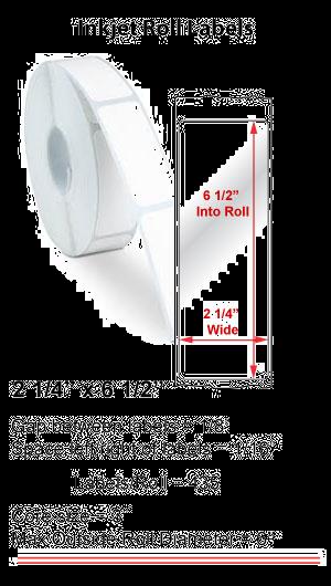 "2.25"" x 6.5"" INKJET ROLL LABELS Full Size Image #1"