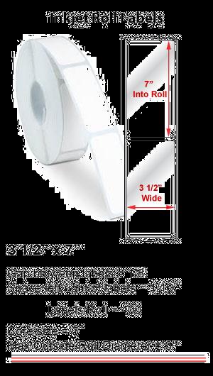 "3.5"" x 7"" INKJET ROLL LABELS Full Size Image #1"