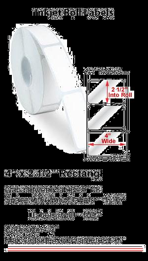 "4"" x 2.5"" RECTANGLE INKJET ROLL LABELS Full Size Image #1"