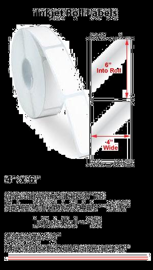 "4"" x 6"" INKJET ROLL LABELS Full Size Image #1"