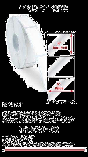"5"" x 4"" INKJET ROLL LABELS Full Size Image #1"