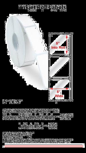 "5"" x 5"" INKJET ROLL LABELS Full Size Image #1"