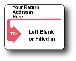 """4"""" x 3"""" Printed Roll Mailing Labels Full Size Image #2"""