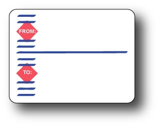 """4"""" x 3"""" Printed Roll Mailing Labels Full Size Image #1"""