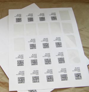 "1.25"" x 1.75"" NETSTAMPS COMPATIBLE LABELS 10/Sheets Full Size Image #2"