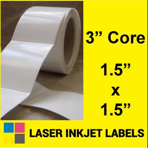 "1.5"" x 1.5"" INKJET ROLL LABELS Full Size Image #2"