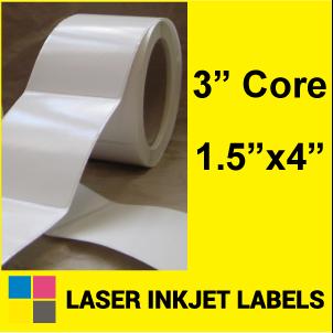 "1.5"" x 4"" INKJET ROLL LABELS Full Size Image #2"