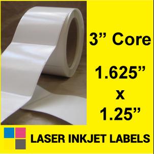 "1.625"" x 1.25"" INKJET ROLL LABELS Full Size Image #2"