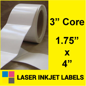 "1.75"" x 4"" INKJET ROLL LABELS Full Size Image #2"