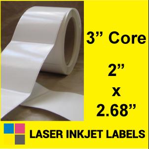 "2"" x 2.68"" INKJET ROLL LABELS Full Size Image #2"