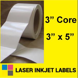 "3"" x 5"" INKJET ROLL LABELS Full Size Image #2"