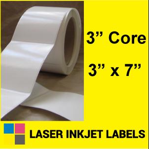 "3"" x 7"" INKJET ROLL LABELS Full Size Image #2"