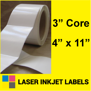 "4"" x 11"" INKJET ROLL LABELS Full Size Image #2"