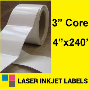 "4"" x 240' INKJET ROLL LABELS Full Size Image #2"