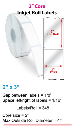 "2"" x 3"" RECTANGLE ROLL LABELS FOR PRIMERA LX400 Full Size Image #1"