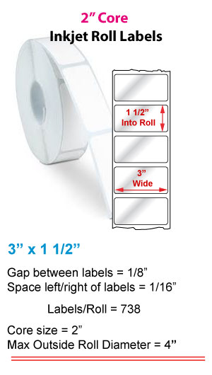 """3"""" x 1.5"""" ROLL LABELS FOR PRIMERA LX400 Full Size Image #1"""