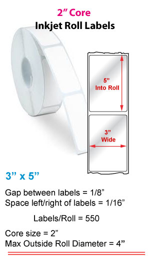 """3"""" x 5"""" ROLL LABELS FOR PRIMERA LX400 Full Size Image #1"""