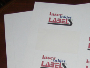 "1"" CIRCLE UNCOATED WHITE LABELS Full Size Image #2"