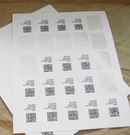 "4"" x 2"" SQUARED OVAL WHITE UNCOATED LABELS Full Size Image #4"
