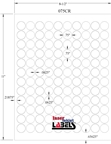 ".75"" Circle White PolyGloss for Inkjet or Laser Printers Thumbnail #3"