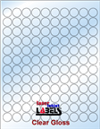 ".75"" CIRCLE CLEAR GLOSSY LABELS Thumbnail #1"